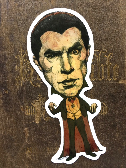 Dracula Vinyl Sticker    $5    Click image to purchase