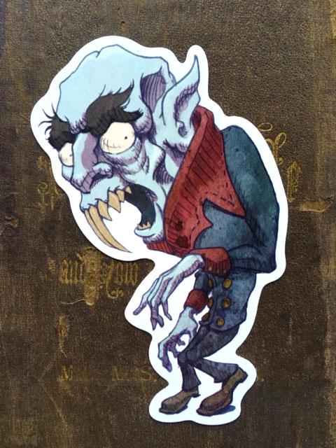 Nosferatu  Vinyl Sticker    $5    Click image to purchase