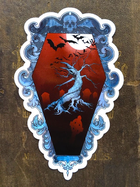 Victorian Coffin / Cemetery  Vinyl Sticker    $5    Click image to purchase