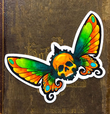 Memento Mori Butterfly   Vinyl Sticker    $5    Click image to purchase