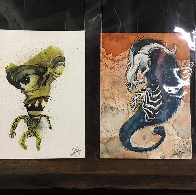 I am now selling originals! New work will be available every first Friday and only for that month! New work every month! Available in person @noirartandoddities 1101 Mulberry, KCMO 64101 or by DM. New for May a couple of watercolor creepies!  #monsters #themonsterartist #bradystoehrart #drawings #drawingart #dailydrawing #drawingoftheday  #illustration #illustrations  #illustrationart #illustrator #illustrationartists #illustrate #illustragram #illustrationoftheday  #originalartwork #artshow #monsterart #weirdart  #lowbrow #creature #characterdesign #characterart  #frankenstein  #horrorart #horror