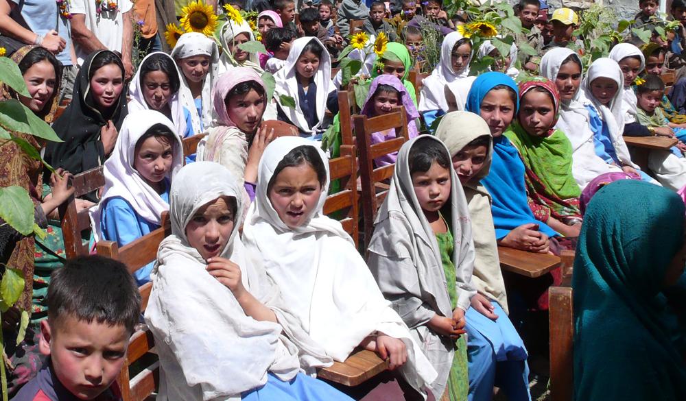 Girls in the village Khane.