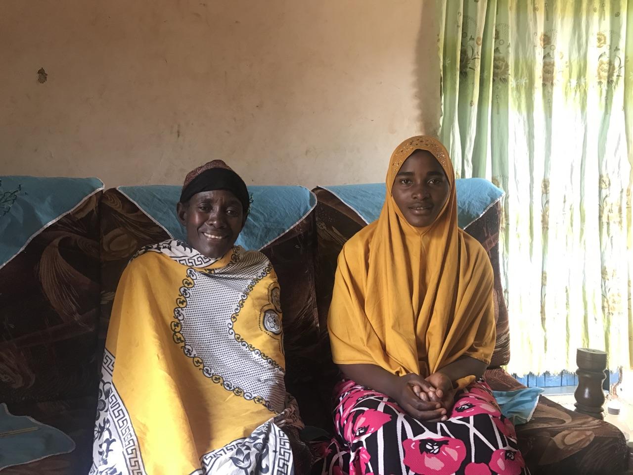 Hadija with her grandmother