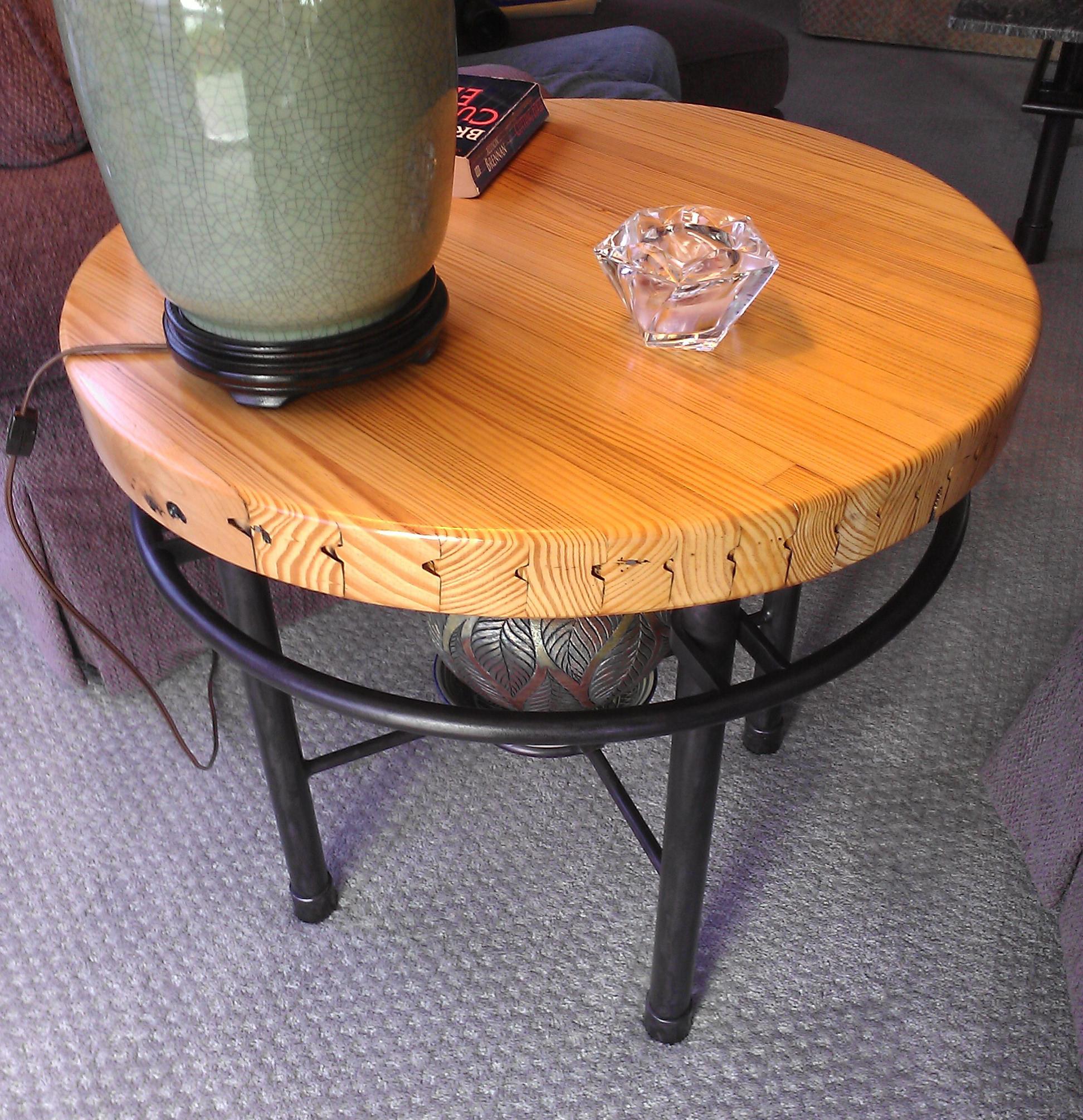Bowling wood, custom base. Sold.