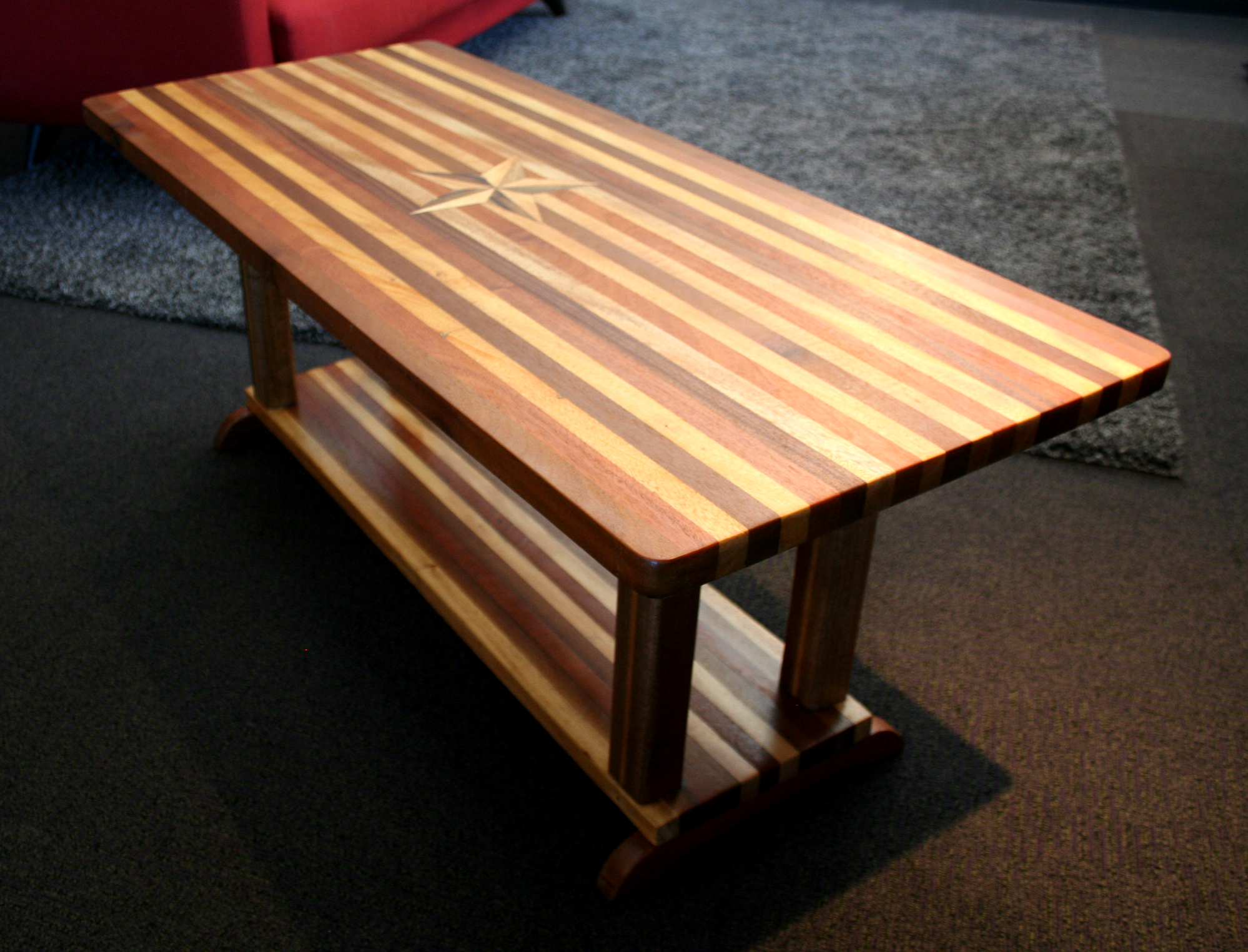 Discarded table, restructured, refinished. SOLD