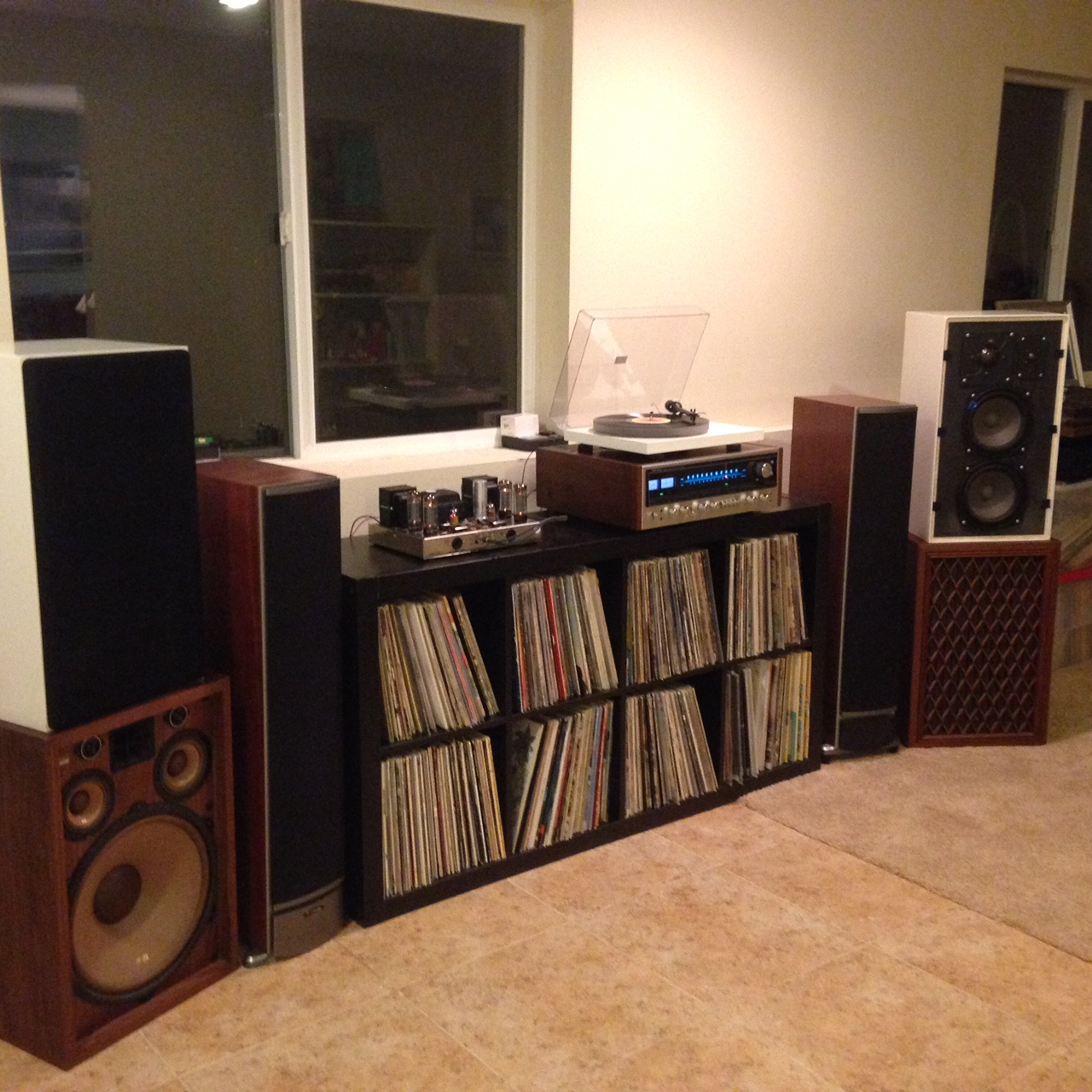 Brian S System:  Pioneer SX1010 running as pre-amp into Dynaco ST-70, Braun I810s speakers (or Pioneer CS 99a's, or Polk Rti 8's), Project Debut Carbon with acrylic platter.