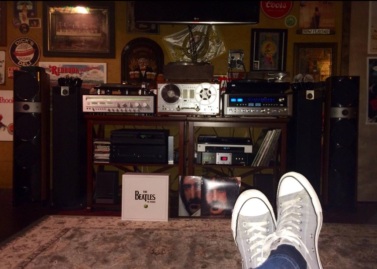 Kevin B System:  Pioneer 707, Sansui9090, Focal speakers, Yamaha receiver, Nakamichi CD player, Zappa, Zappa, and Zappa.
