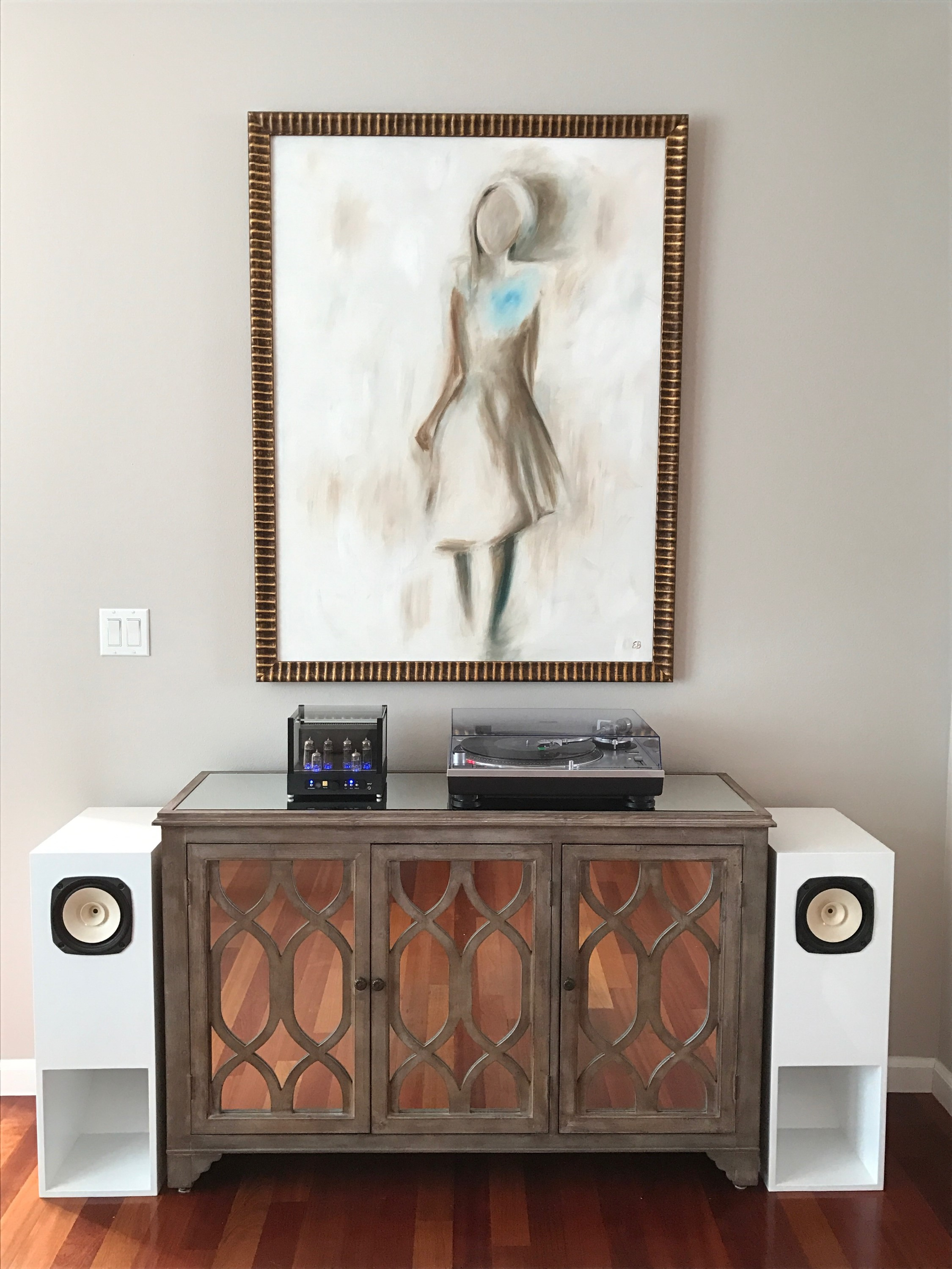 SWEET!: Jolida FX10, AudioTechnica LP120, Custom GHA Fostex speakers.