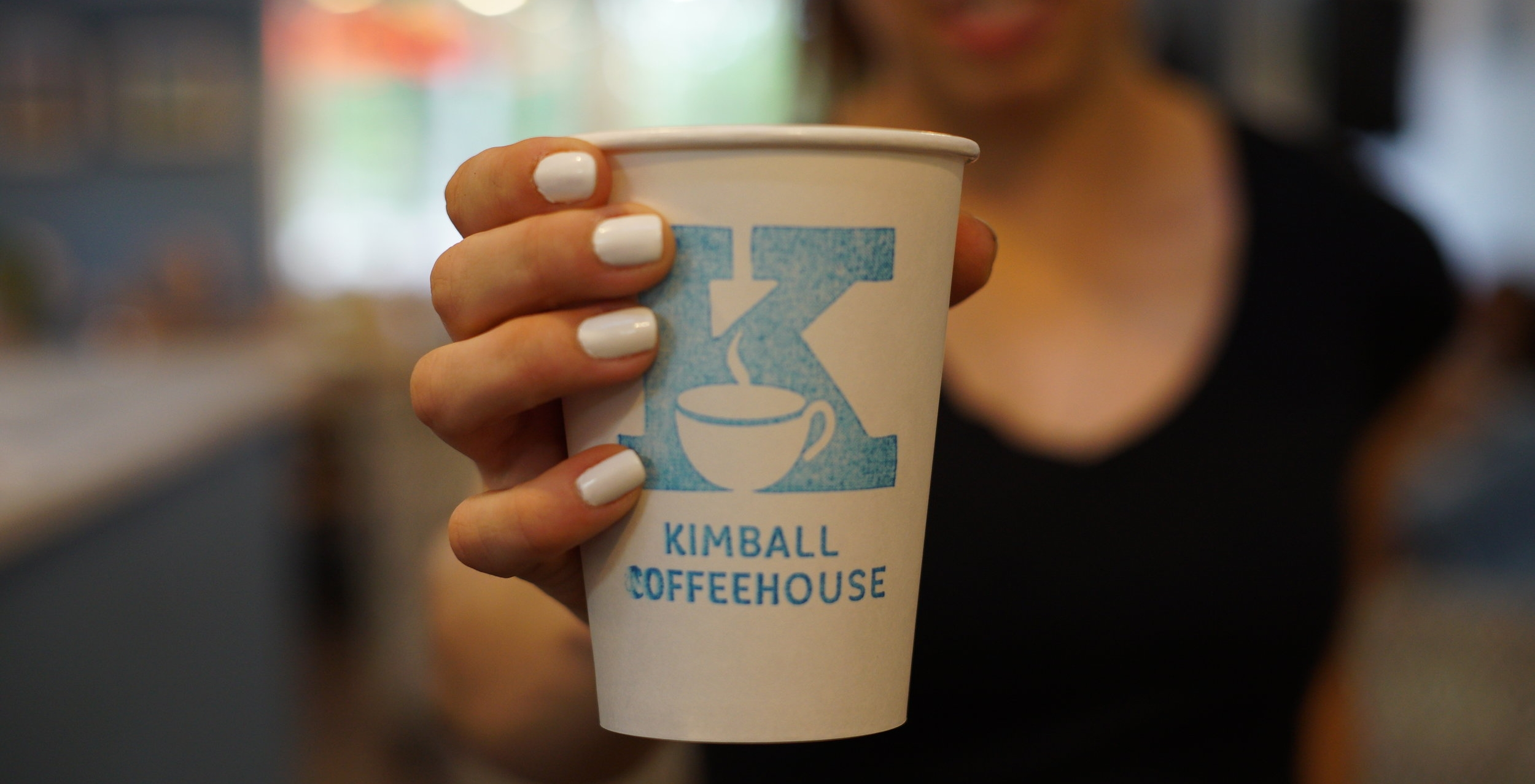 Kimball CoffeeHouse in Gig Harbor   Excellent coffee, sandwiches, food, beer, wine, and live music. Family run, cozy, good.