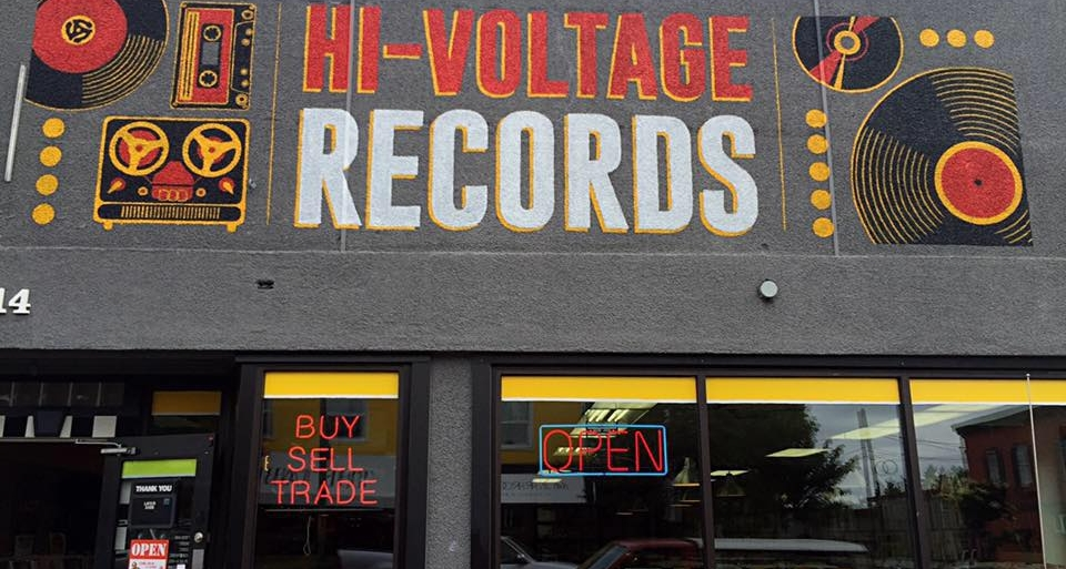 Hi Voltage Records in Tacoma   New location. Best around. See a custom GHA turntable as their store TT! This place rocks and has great deals. Really nice people.