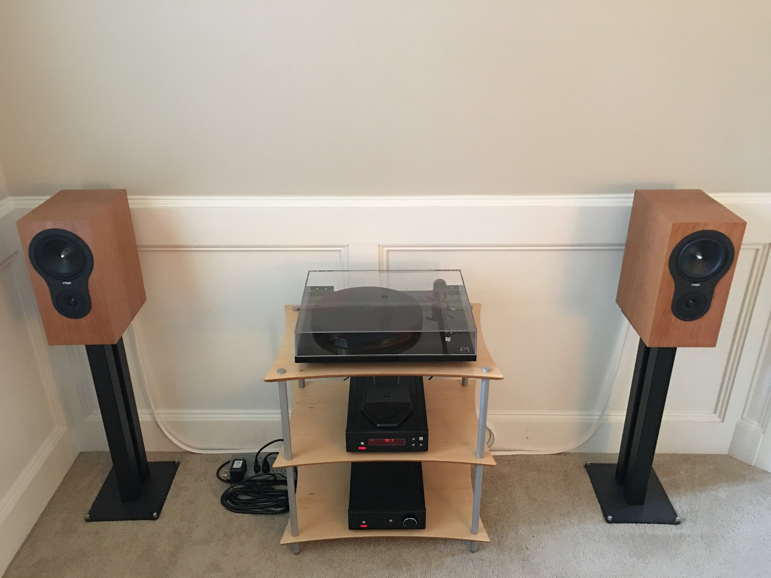 Jason W's sweet Rega system! Rega Brio, Apollo CD player, P1, RX-1 speakers. Simple, perfect. Quadraspire rack.
