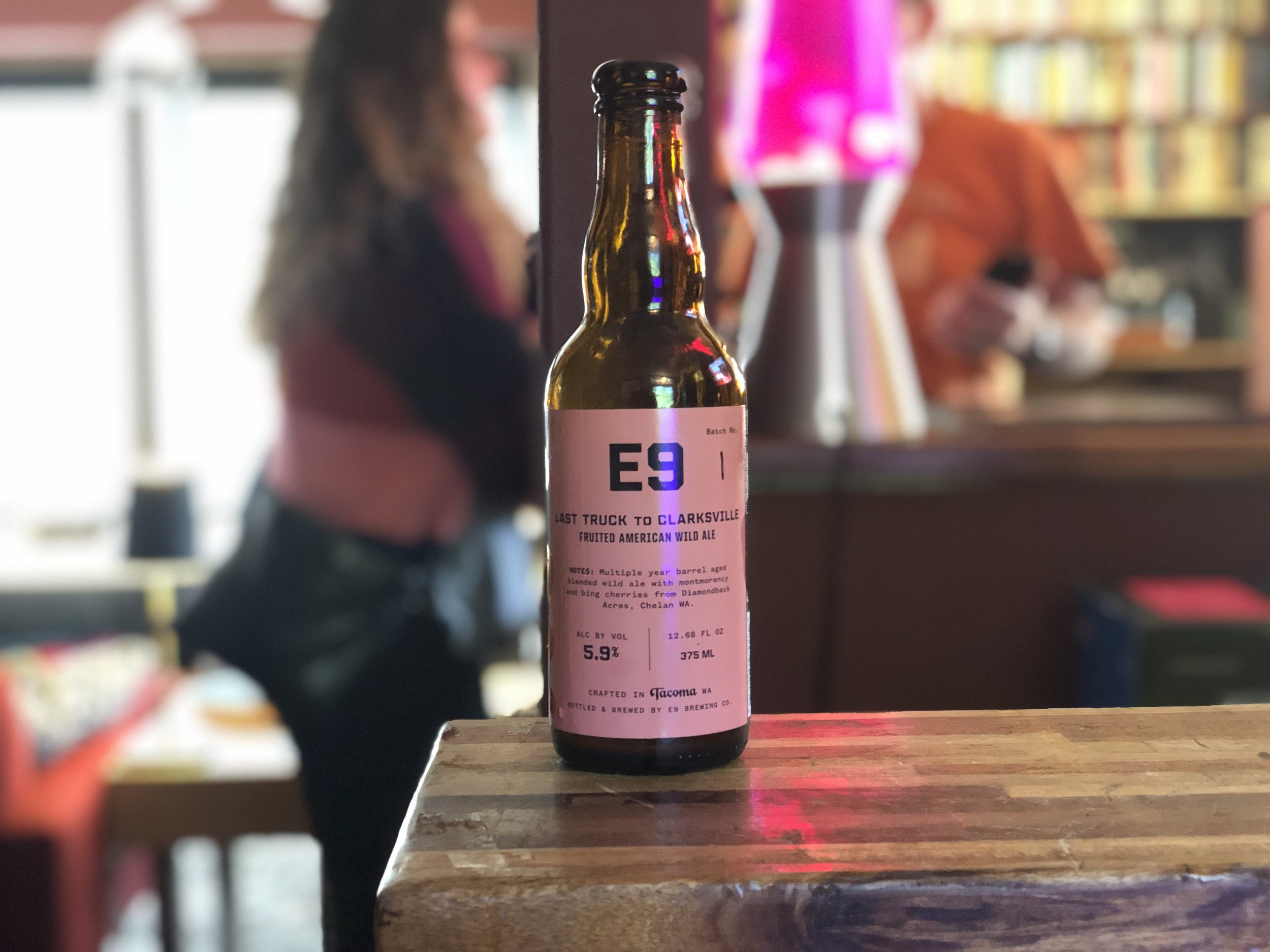 E9 Brewing in Tacoma, WA  This beer is so good you have to try it to believe it.  Small batch brewing.  Delicious.  Layers of flavor, then it is gone.