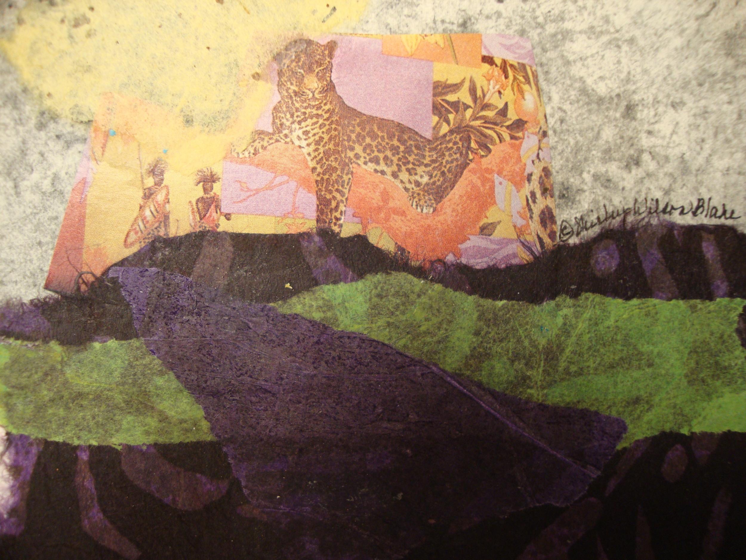 Name: Tiger Collage Description: Mixed Media Size: 10 x 10