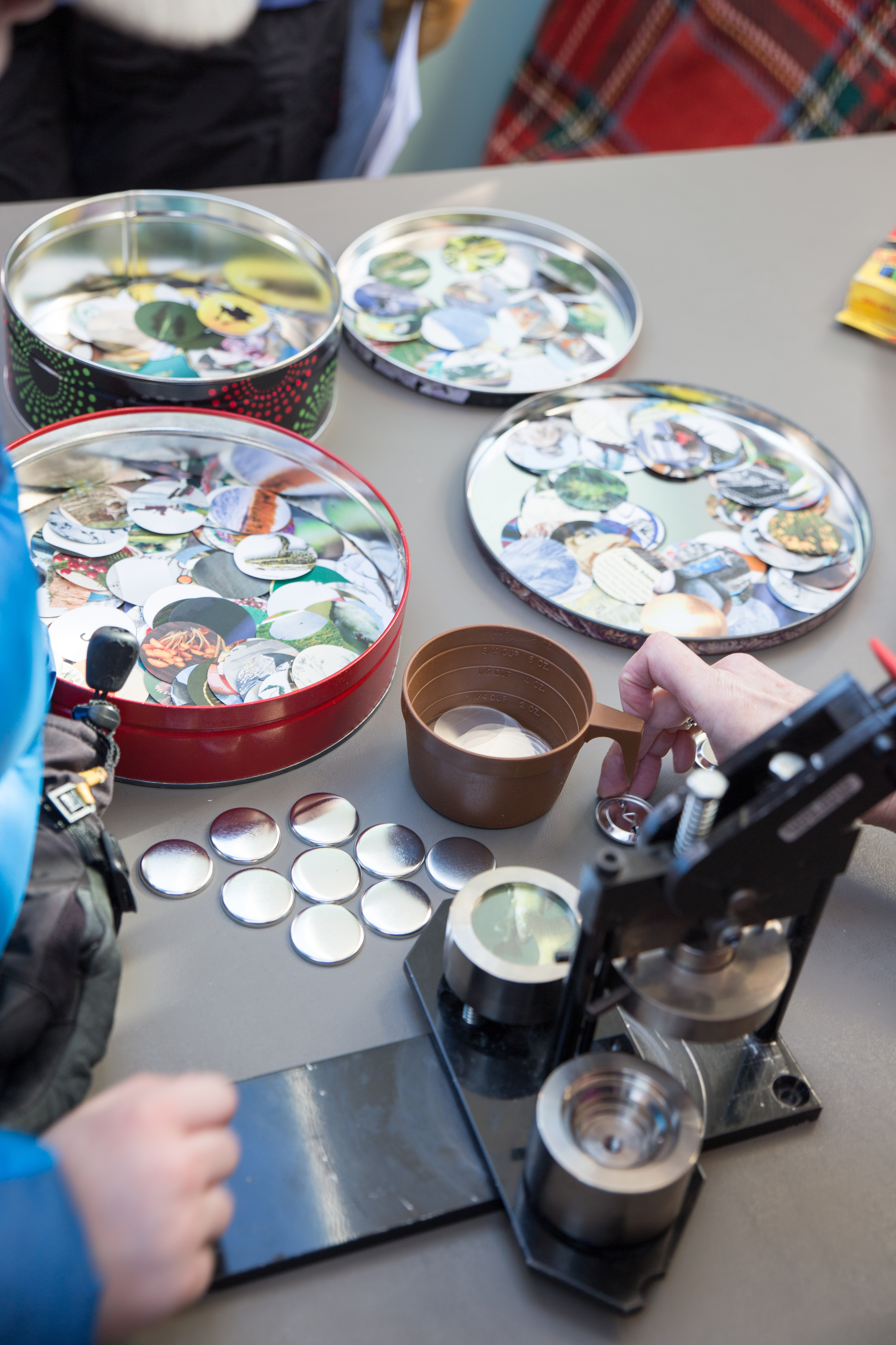You can make buttons at the Ice Fishing Shanty. This shanty is a dedication of the old ice-fishing days gone by. It is a beautifully done ode to vintage ice fishing shanties.