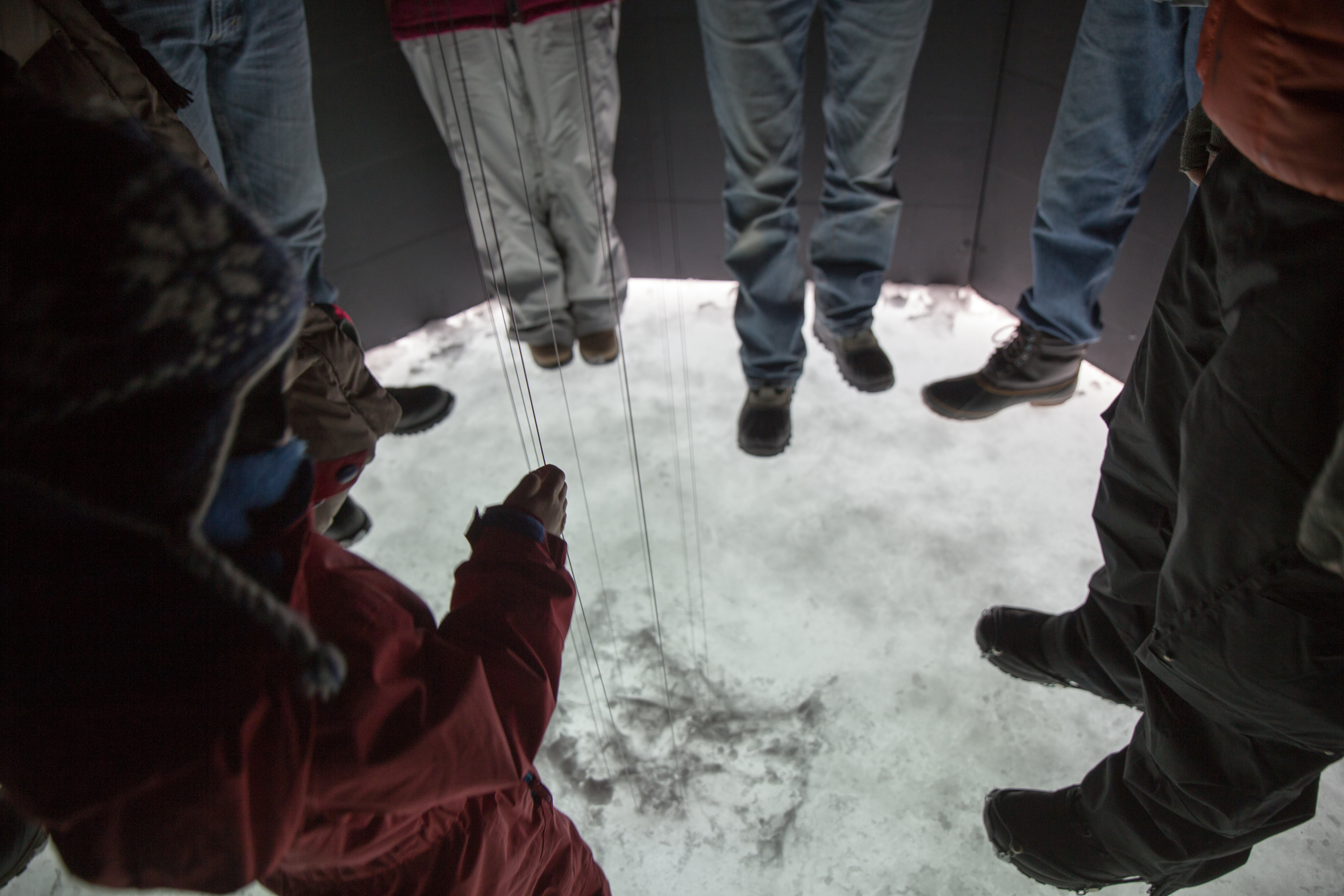 The Sonic Shanty will make you realize just how small you are as you stand on that big frozen lake and interact with the sounds that rise from below