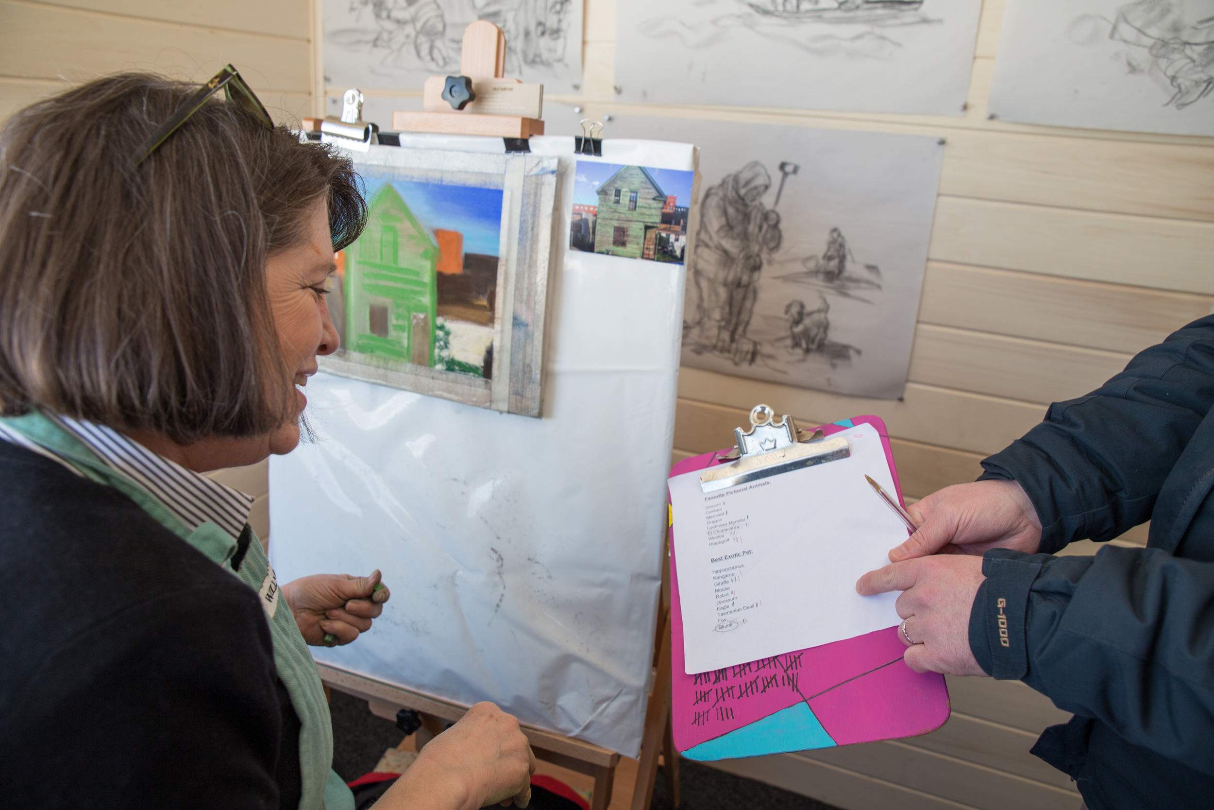"""See artists perform their craft in the well-crafted """"Box""""Studio Shanty. Find it where you see the big """"ART"""" sign."""