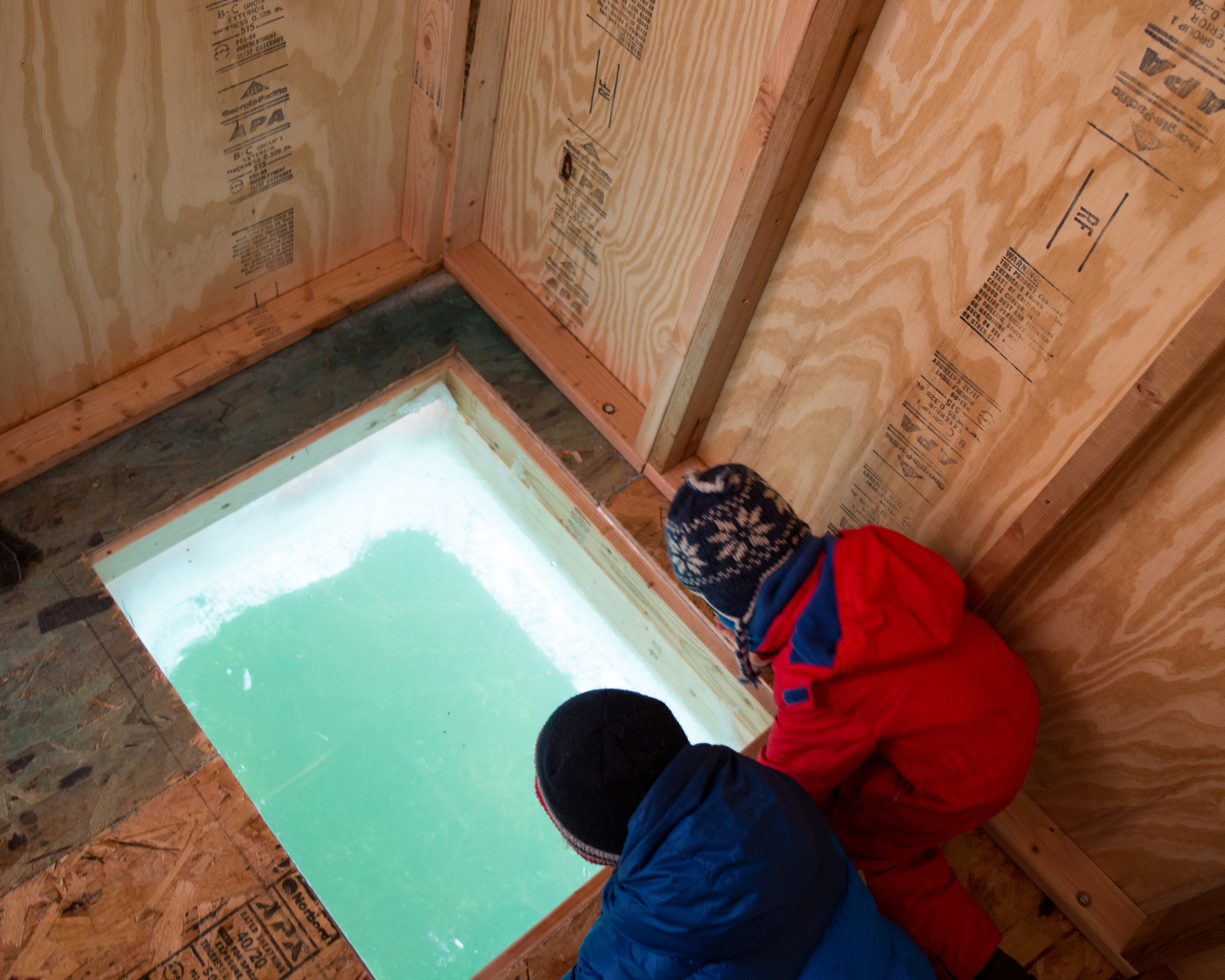 In the Sound + Vision Shanty - they have cut straight through the ice and allow you a glimpse of life below. Truly captivating!
