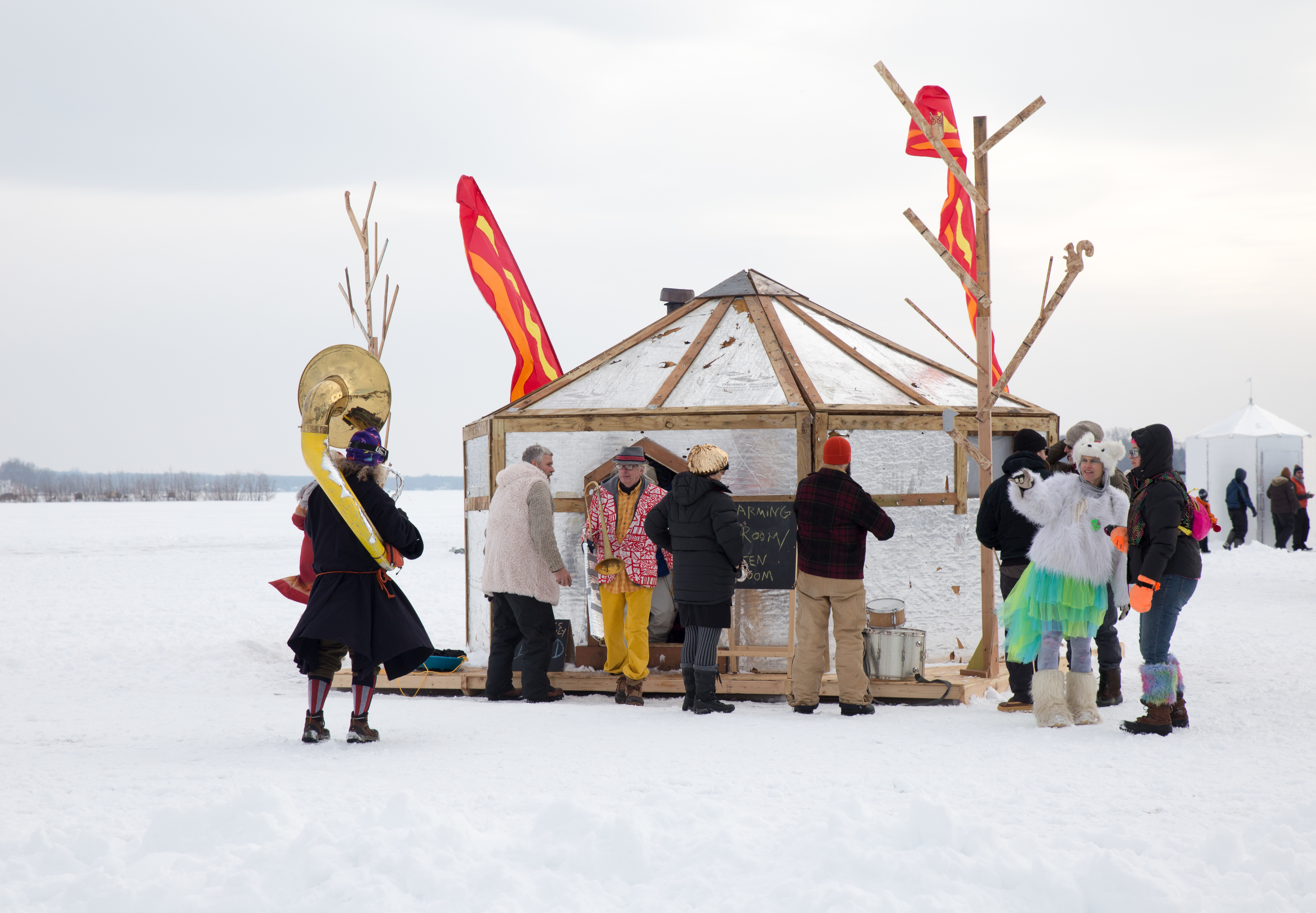 The Performance HexaYurt provides a home for untraditional performances