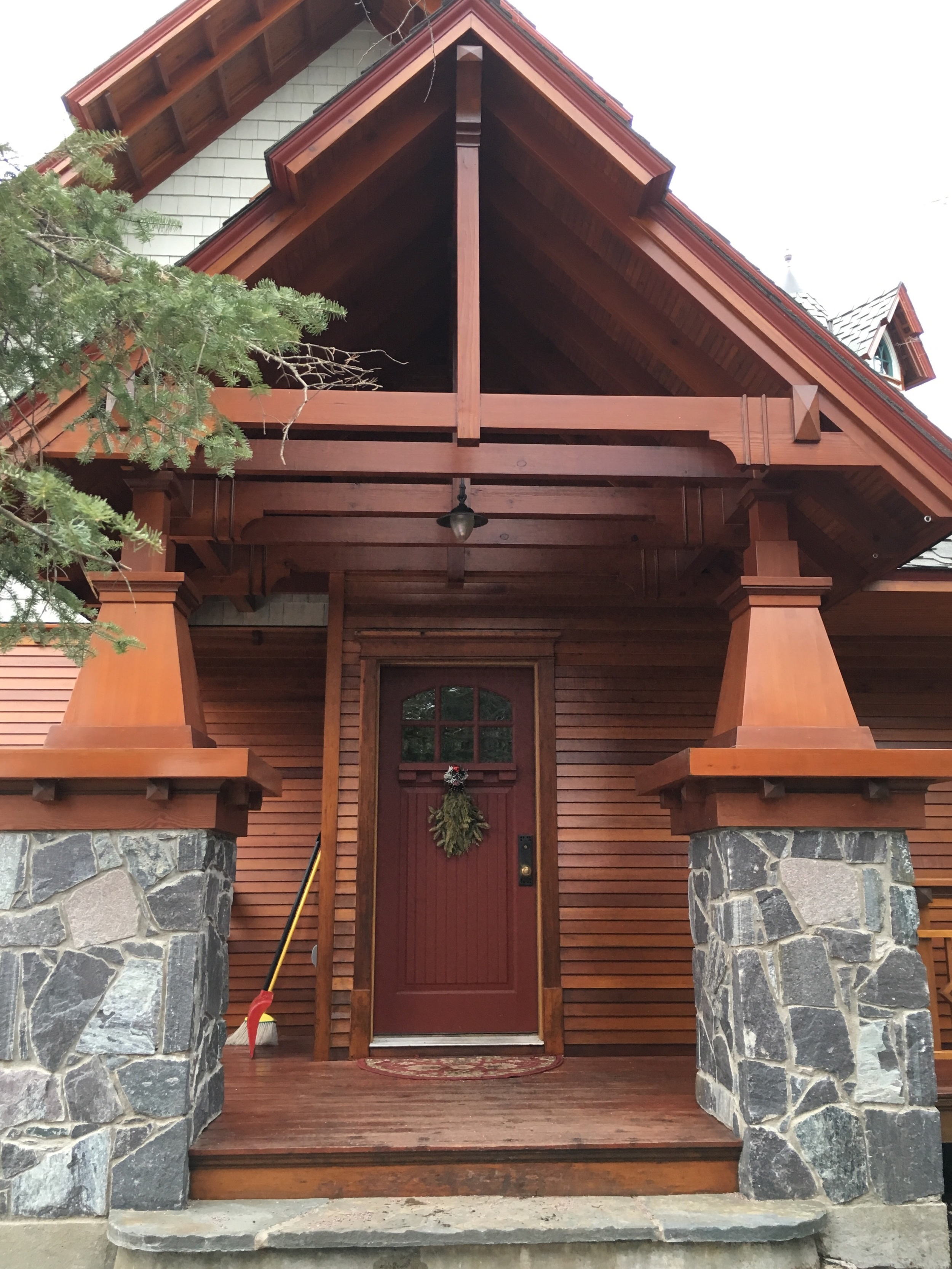 iPhone shot of the home's front door