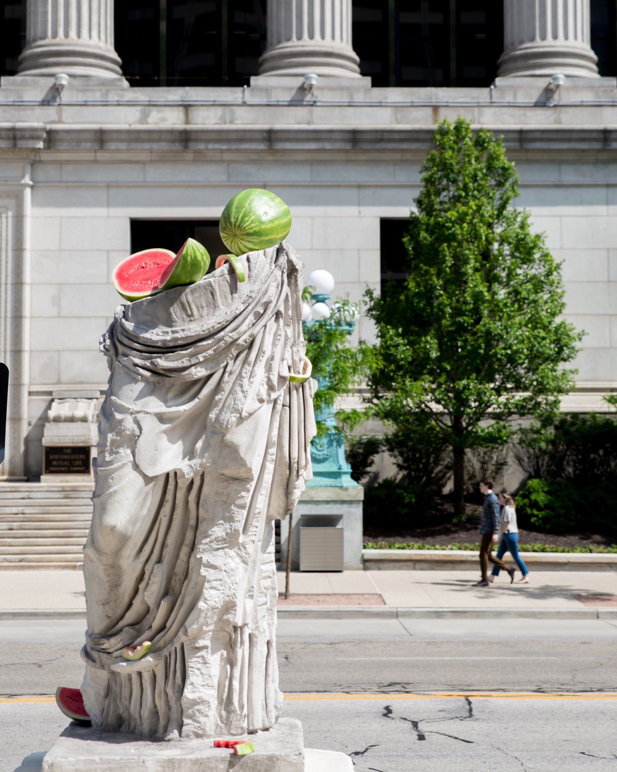 "I love this one too for all of its strangeness! ""Hera"" By Tony Matelli. Yes, the watermelons are part of the sculpture!"