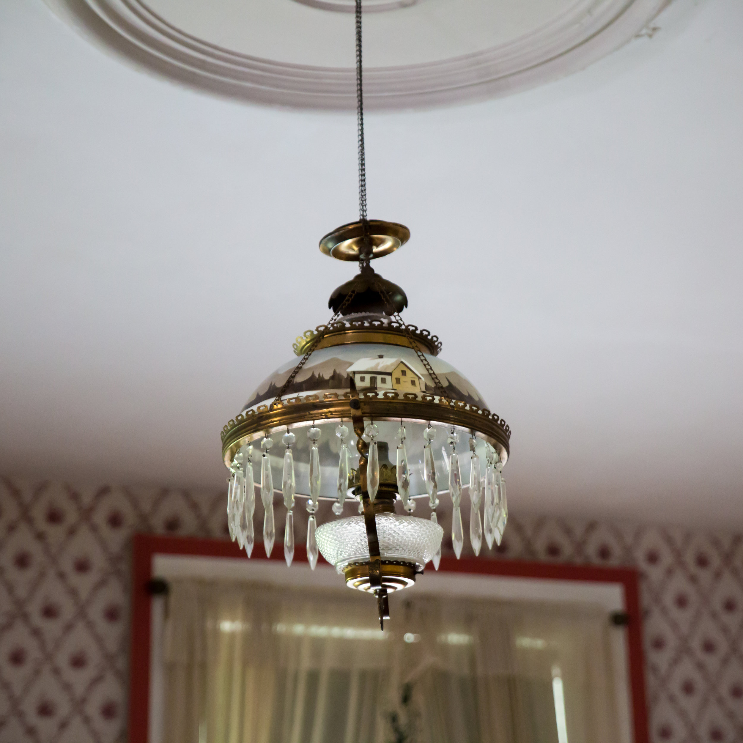 Original painted light fixture