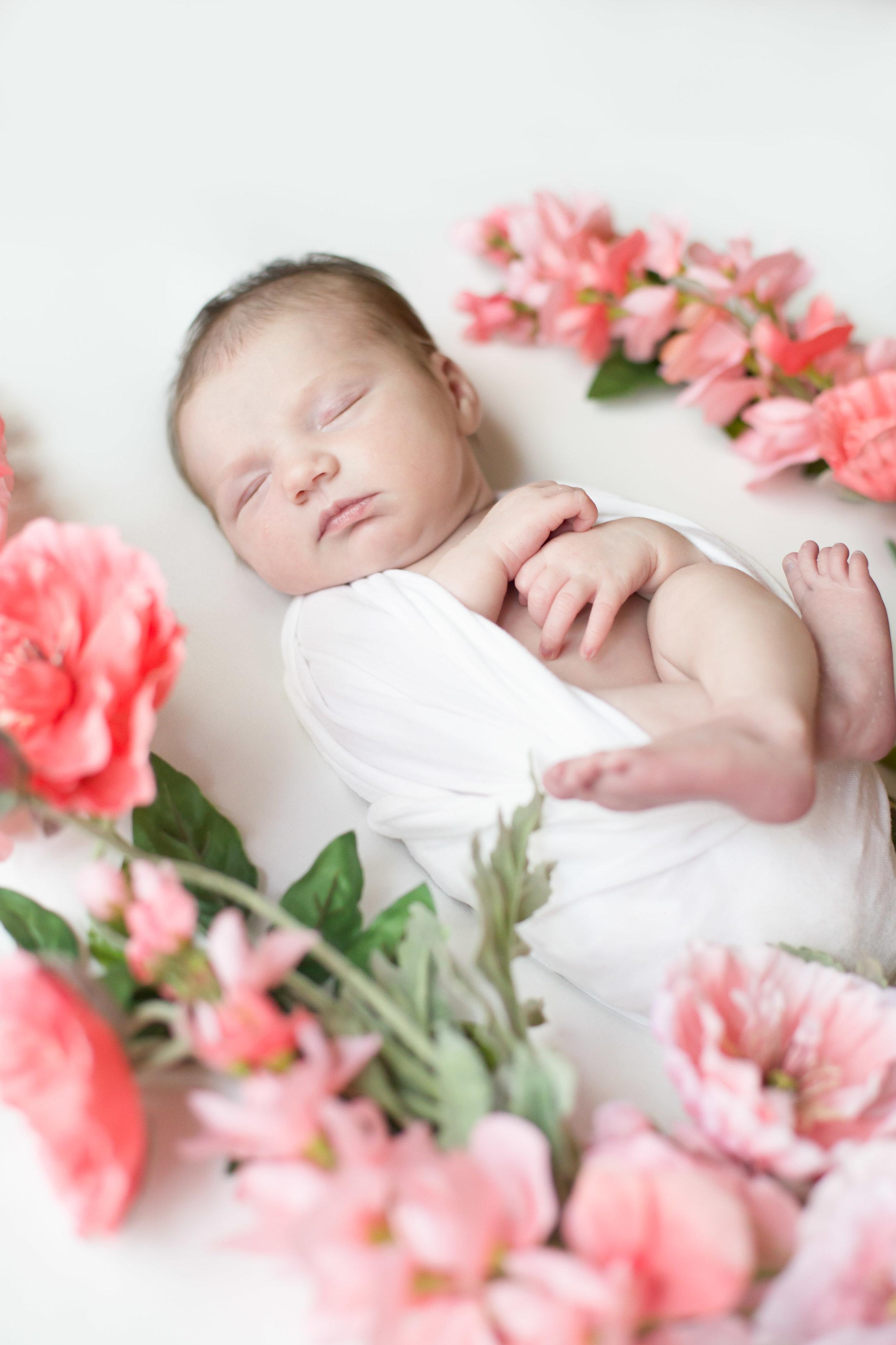 Newborn Baby Girl Floral