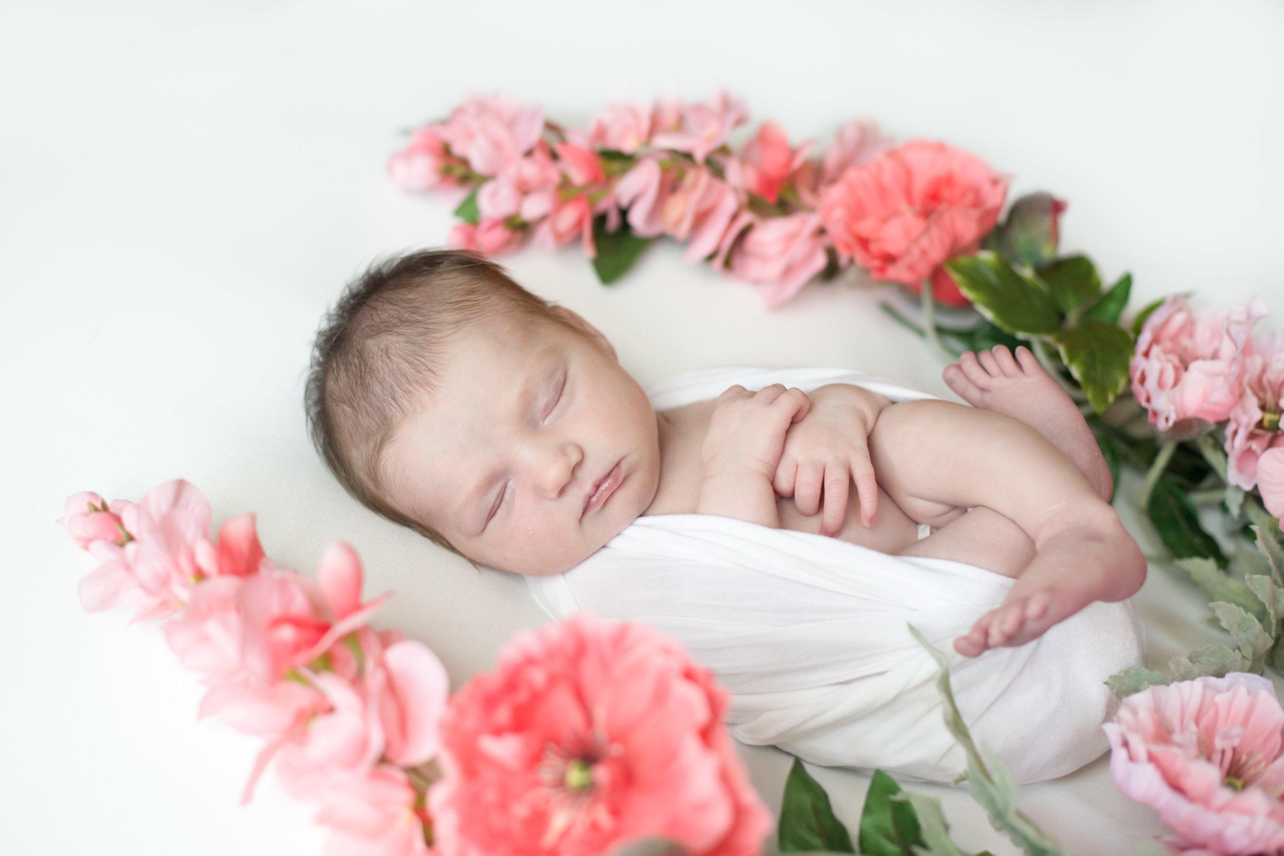 Floral Wreath Newborn Girl