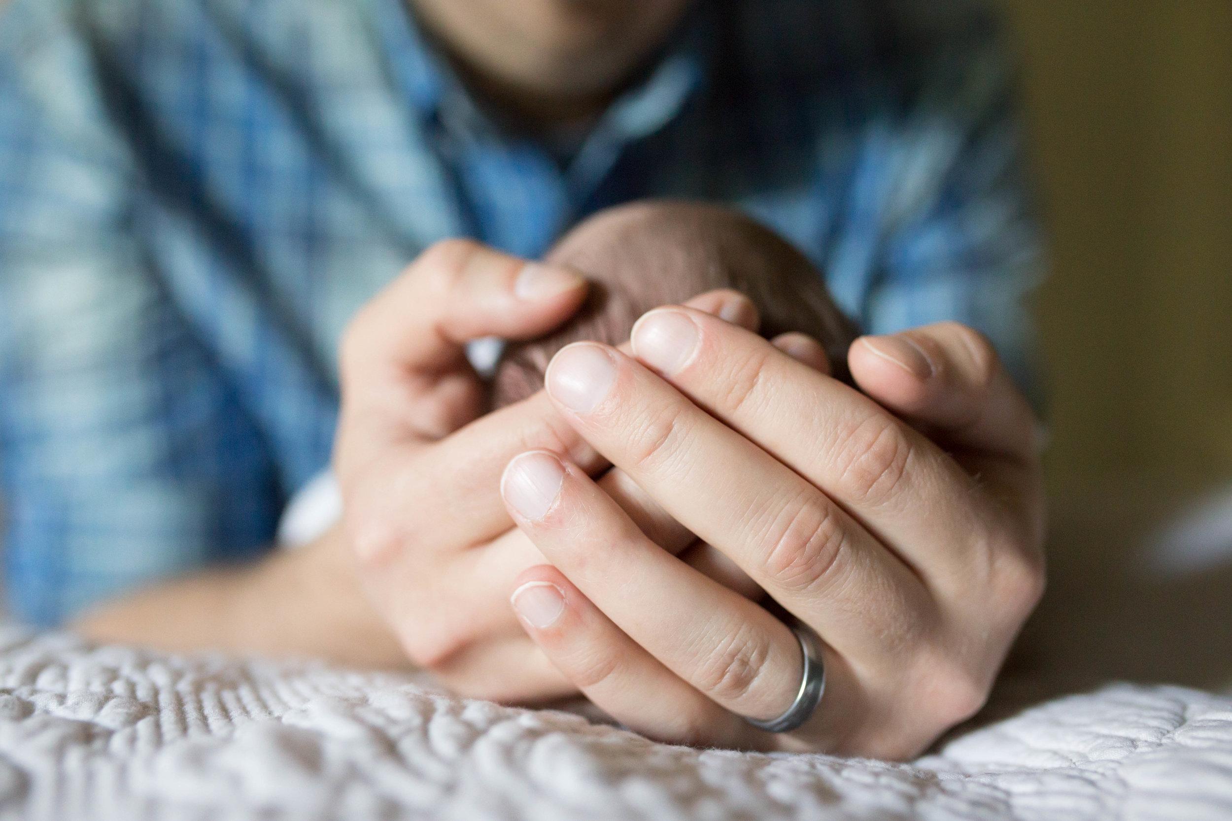 Newborn & Dad Hands