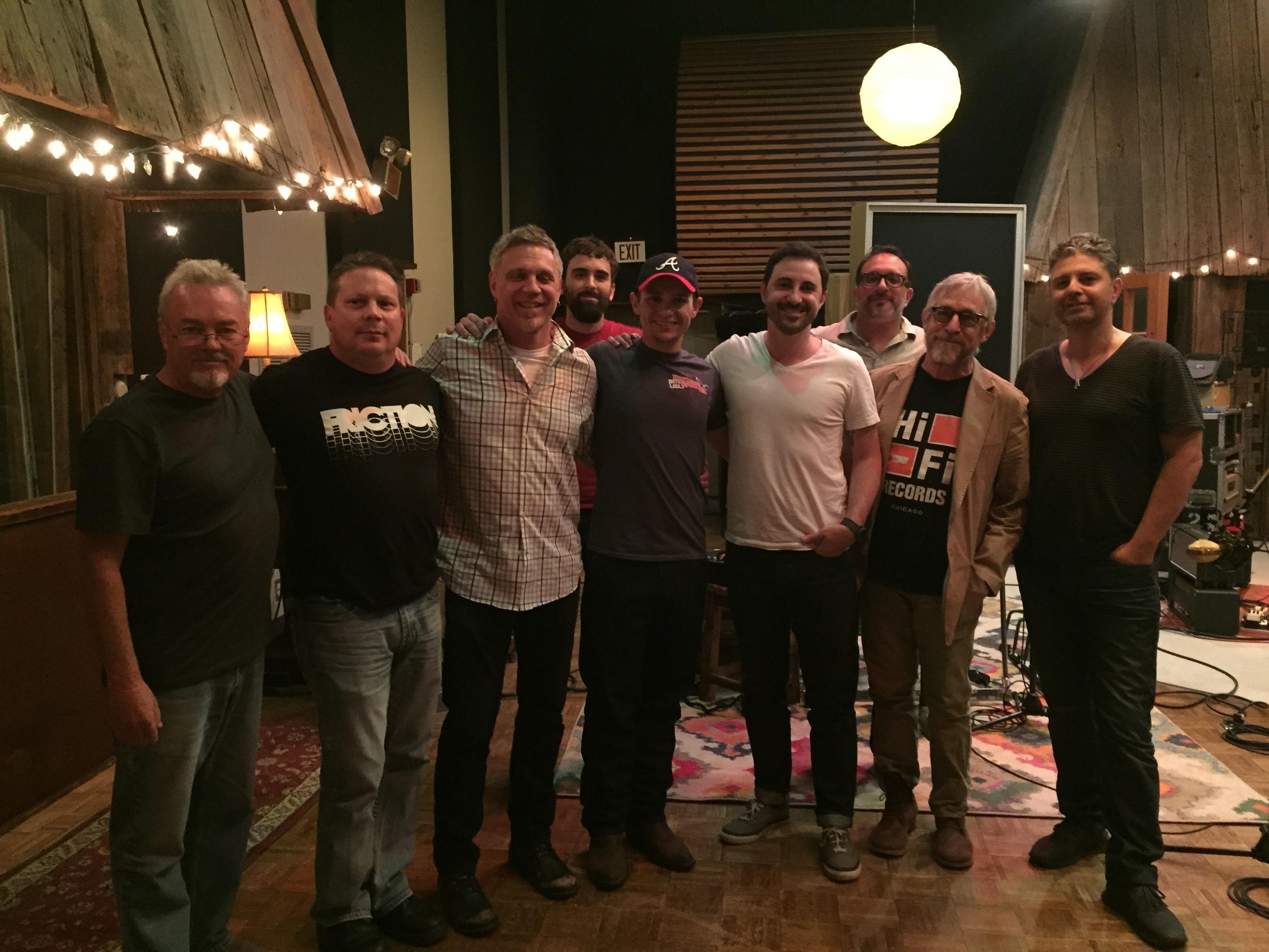 Left To Right | Billy Chapin(Producer), Sean Impera(Agent), Rob Hajacos(Fiddle), Gordon Hammond(Engineer), Johnny Reed Foley, Derek Wells(Guitar), Tim Marks(Bass), Russ Pahl(Steel) & Nir.Z(Drums)