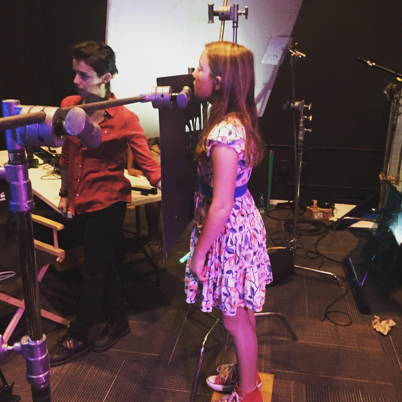 Filming a PSA at Ideas United Studios in Atlanta.