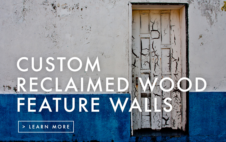 Custom Reclaimed Wood Feature Wall