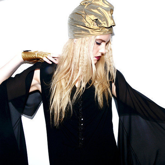 The House Of Hats Gold Dust Turban
