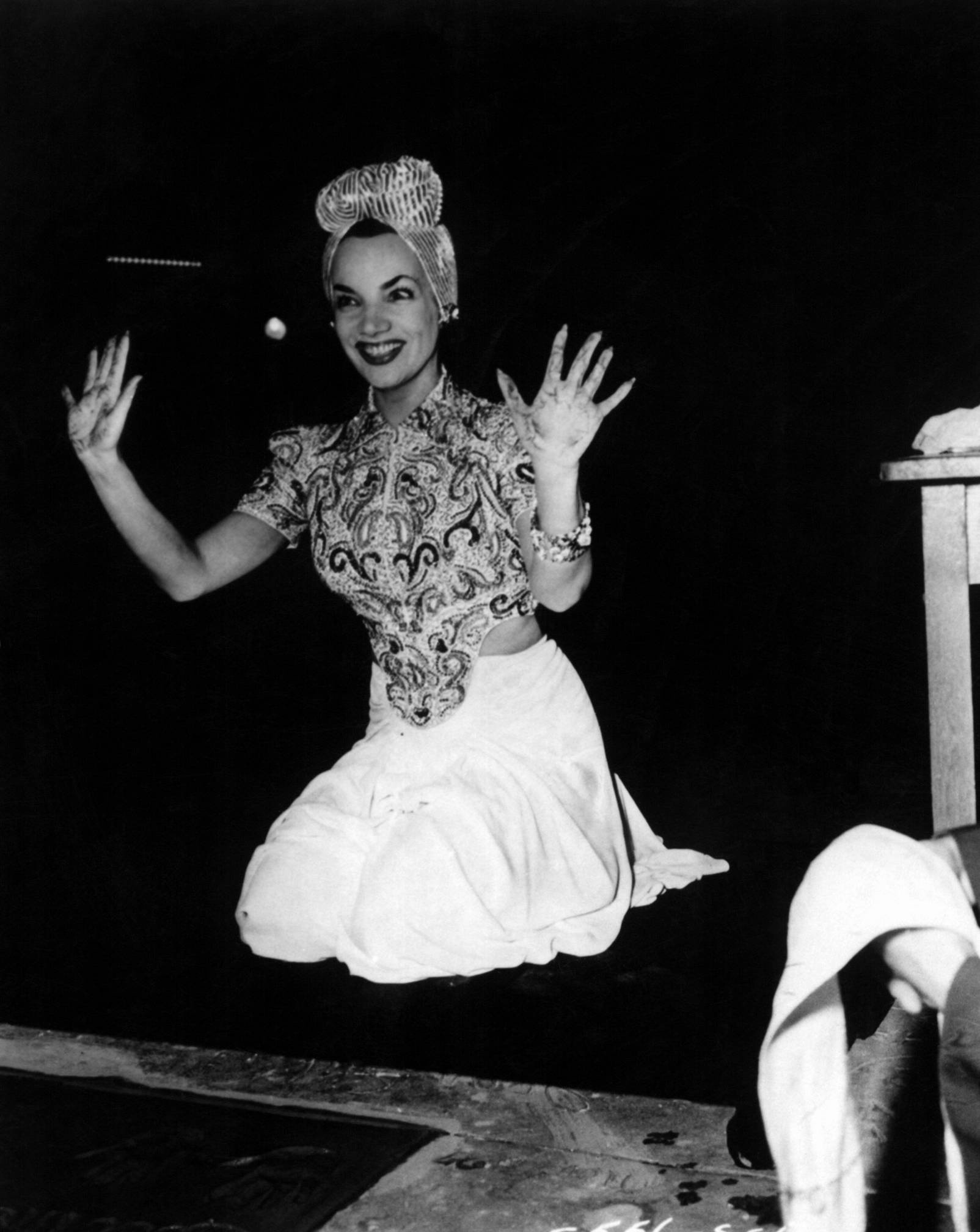 Carmen Miranda was the Queen of Turbans , Famous for topping them with Fruit