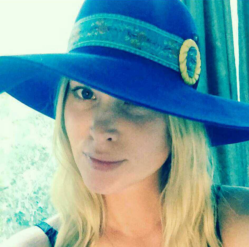 The House of Hats blue bird Hat on Actress Emma Booth .jpg