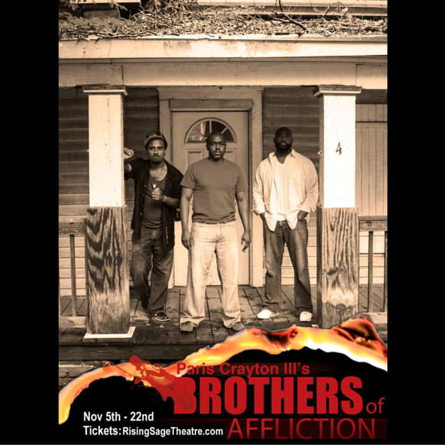 Anthony Goolsby, Kerwin Thompson and Carlus Houston star in  Brothers of Affliction (Image by Jay Ray)