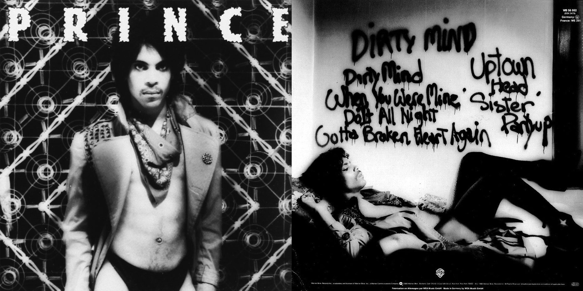 Prince  Dirty Mind  (Front & Back Cover)