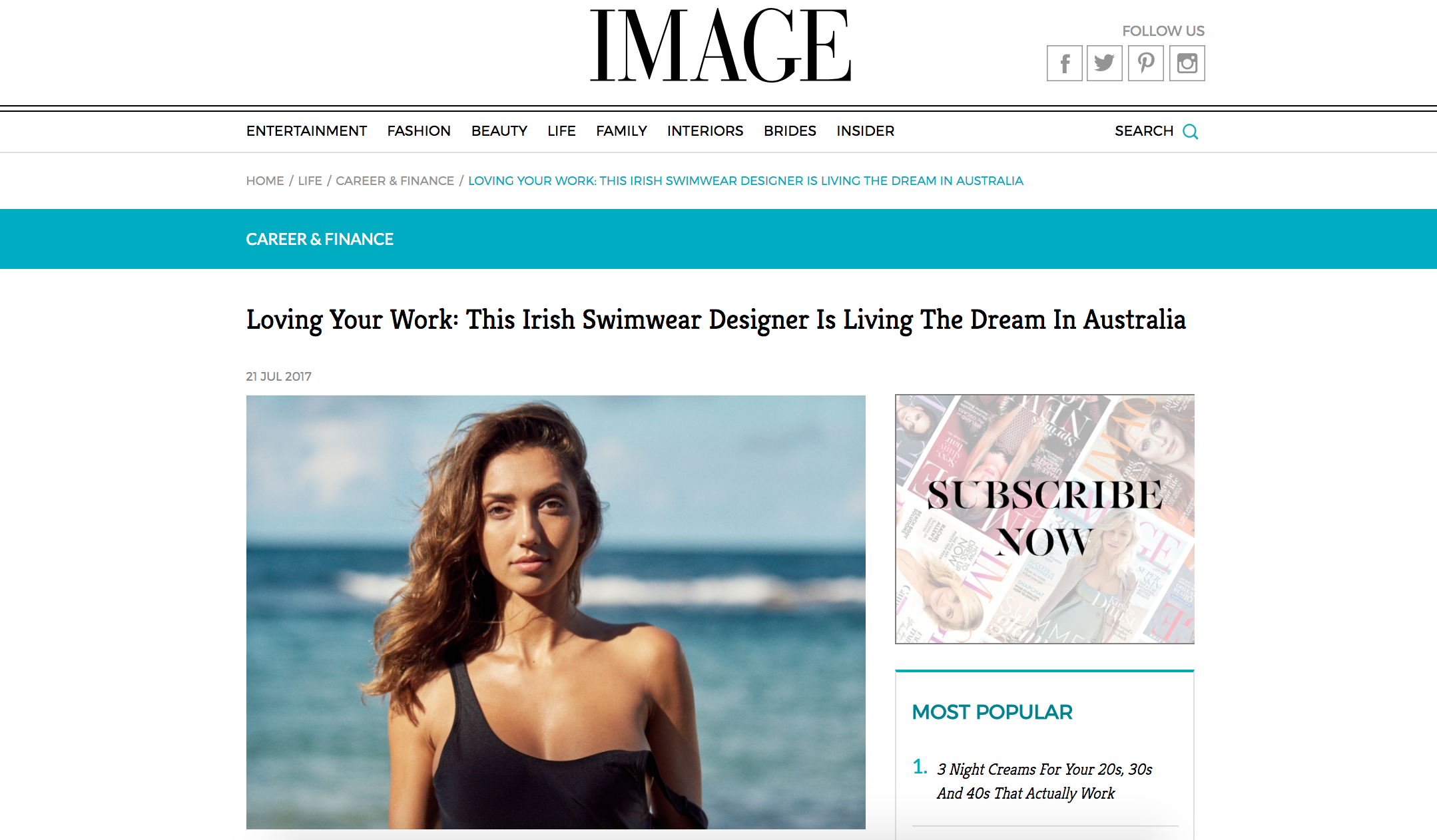 I Am Zazie Image Magazine Women in Business Swimwear Feature
