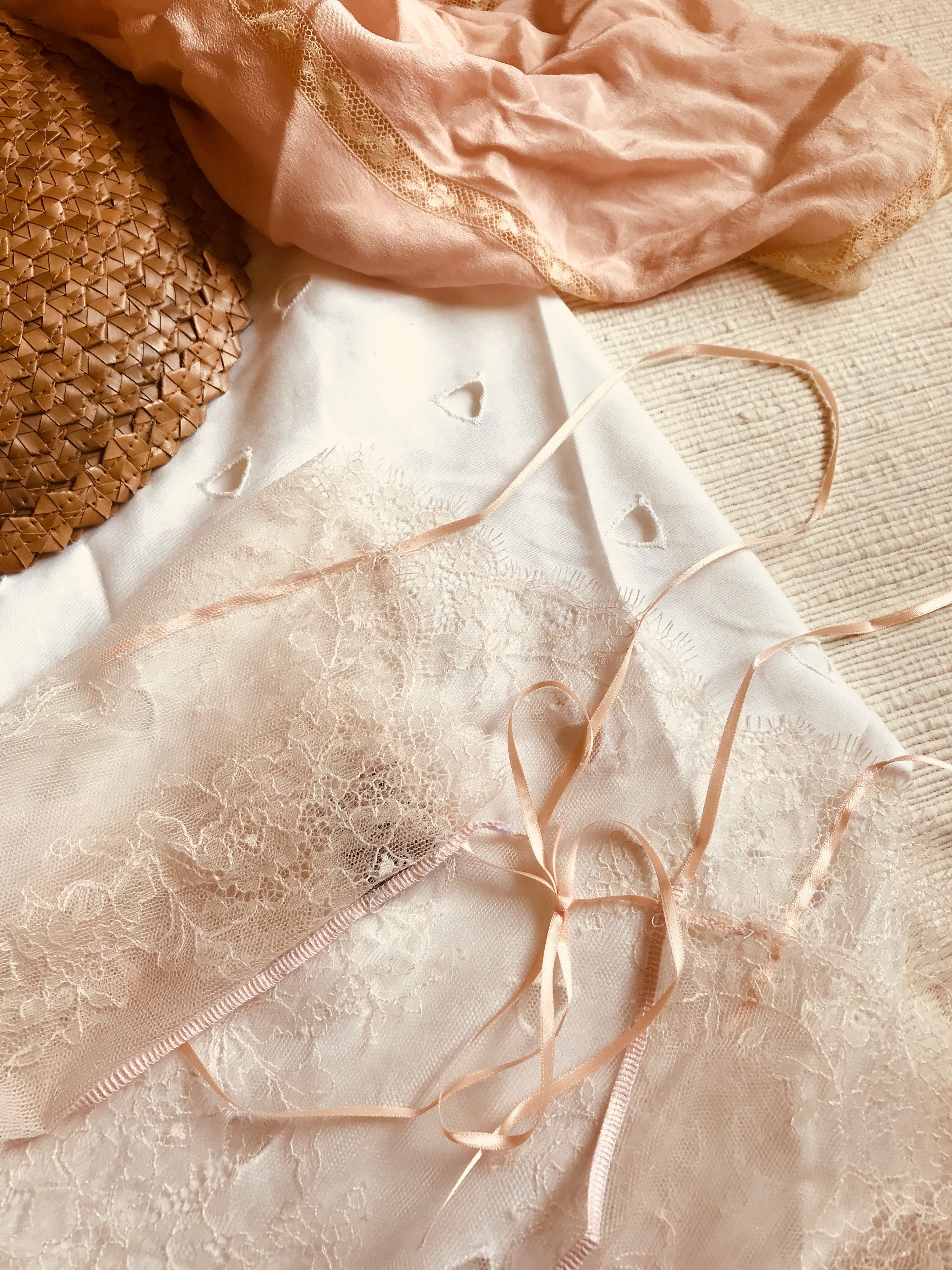 PRETTY IN PINK | Our après-swim sheer  Hazel Chantilly Lace Top in Rosé  - SHOP THE LOOK →