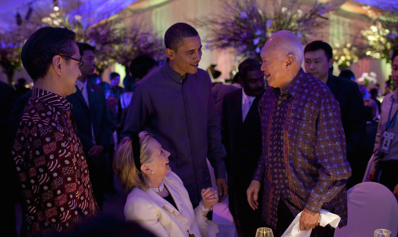 Lee Kuan Yew Met with Obama and Hillary Clinton