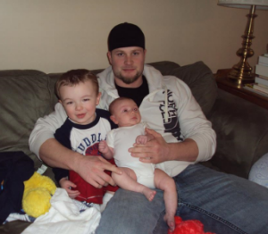 Uncle Evan with two of his favorite little guys.