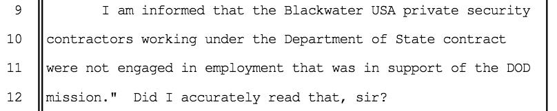source:  gordon england, asst secretary, department of defense, sept 27, 2007