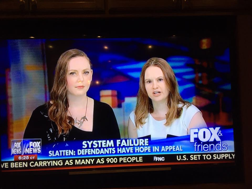Jess Slatten and Christin Slough appeared on Fox & Friends in April 2015 to discuss the false justice of the Raven 23 convictions.