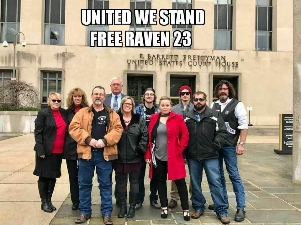 Just a few of the Raven 23 family members and supporters who attended oral argument on January 17, 2017.