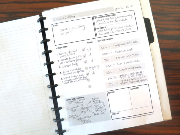 Designed by Pearl Lui: Free Download Goal Setting Worksheet for  Action Planning and Successful Habit Building with Disc-Bound Margins