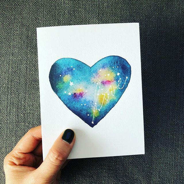 Wishing the universe a whole lot of love. ❤️ @deardaughtersdesign #deardaughtersdesign #deardaughtersdesignpearllui #watercolor #watercoloruniverse #watercolorheart #watercolors #watercolorart #love #greetingcards #anniversarycard #congratscards