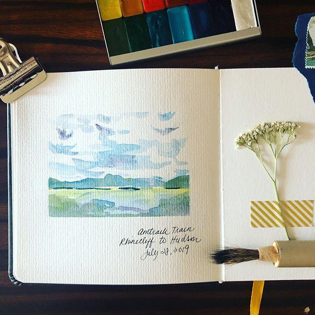 That Amtrak ride that kept on giving... #rhinecliff #watercolor #watercolorpainting #watercolorsketchbook #watercolorart #watercolorclouds #watercolorartist #traveljournal #journaling #travelgram