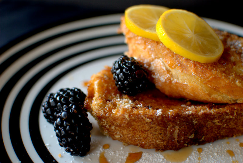 Nutmeg French Toast with Candied Meyer Lemon