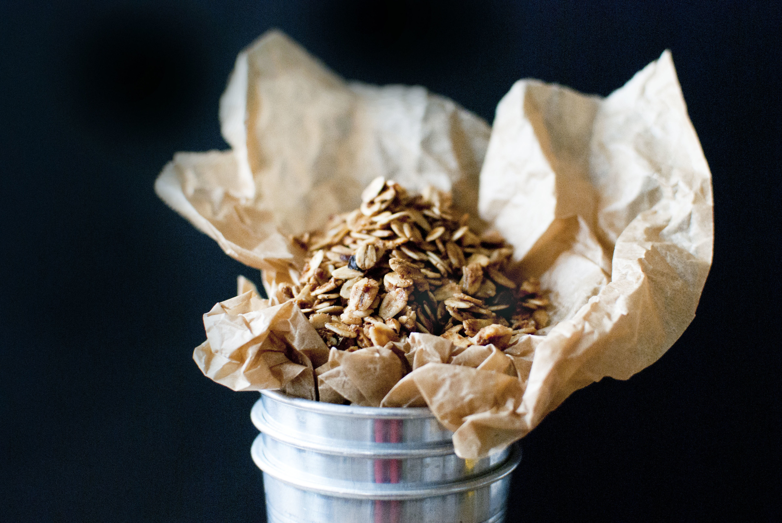 Vanilla Maple Granola with Hazelnuts