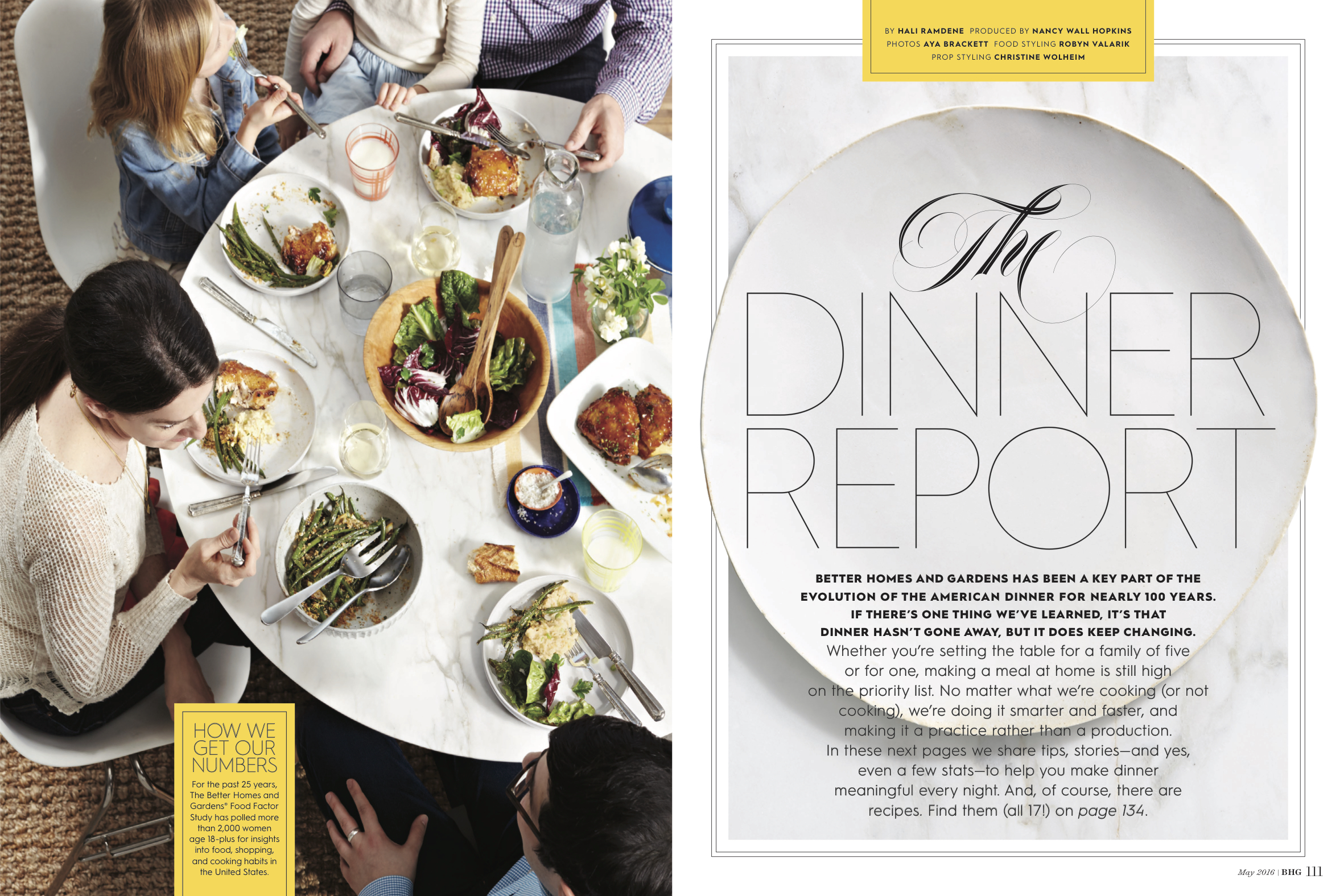 Dinner Report Opening Spread