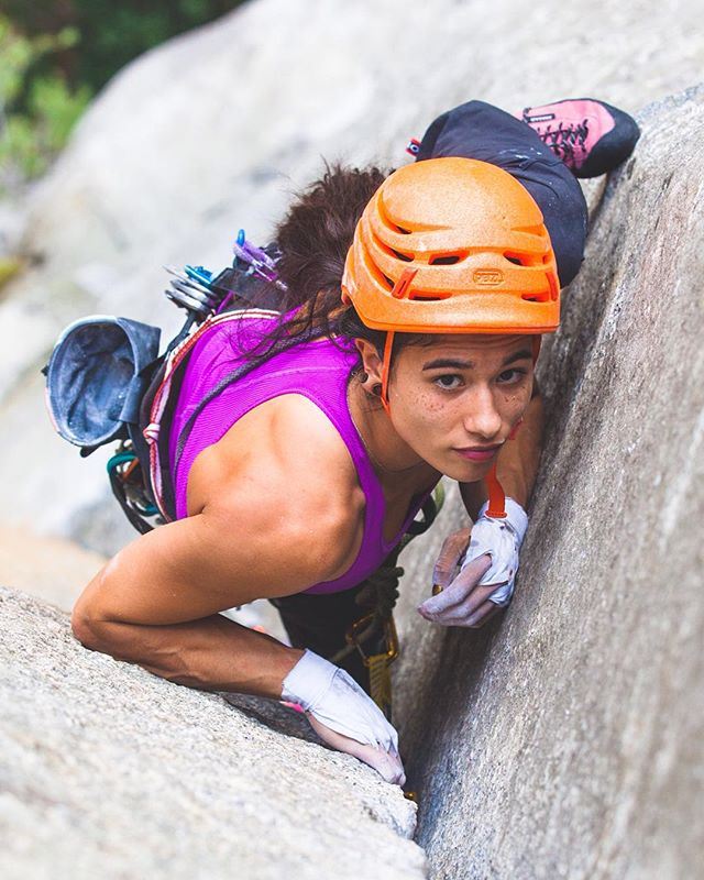 @sheneenagins learns how to crack climb on The Rostrum in Yosemite. It was one of the most impressive efforts I've ever seen! Really excited to be able to share some of my images in the current @rockandicemag! @sinclairhelen @adidasoutdoor